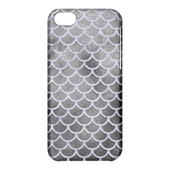 Scales1 White Marble & Silver Paint Apple Iphone 5c Hardshell Case by trendistuff