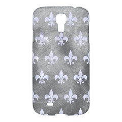 Royal1 White Marble & Silver Paint (r) Samsung Galaxy S4 I9500/i9505 Hardshell Case by trendistuff