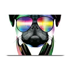 Dj Pug Cool Dog Plate Mats by alexamerch