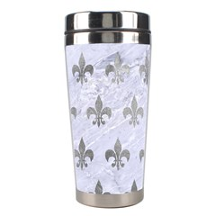 Royal1 White Marble & Silver Paint Stainless Steel Travel Tumblers by trendistuff
