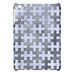 Puzzle1 White Marble & Silver Paint Apple Ipad Mini Hardshell Case by trendistuff
