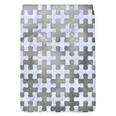 Puzzle1 White Marble & Silver Paint Flap Covers (l)  by trendistuff