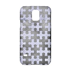 Puzzle1 White Marble & Silver Paint Samsung Galaxy S5 Hardshell Case  by trendistuff
