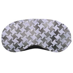 Houndstooth2 White Marble & Silver Paint Sleeping Masks by trendistuff