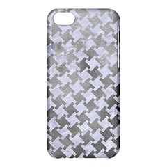 Houndstooth2 White Marble & Silver Paint Apple Iphone 5c Hardshell Case by trendistuff