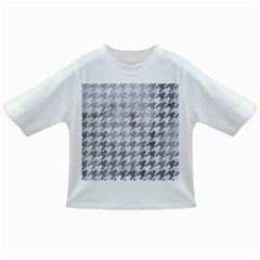 Houndstooth1 White Marble & Silver Paint Infant/toddler T Shirts
