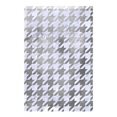 Houndstooth1 White Marble & Silver Paint Shower Curtain 48  X 72  (small)