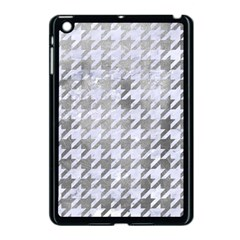 Houndstooth1 White Marble & Silver Paint Apple Ipad Mini Case (black) by trendistuff