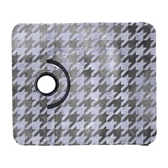 Houndstooth1 White Marble & Silver Paint Galaxy S3 (flip/folio) by trendistuff