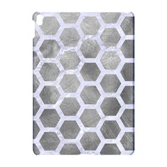 Hexagon2 White Marble & Silver Paint Apple Ipad Pro 10 5   Hardshell Case by trendistuff