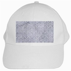 Hexagon1 White Marble & Silver Paint (r) White Cap by trendistuff
