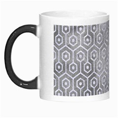 Hexagon1 White Marble & Silver Paint Morph Mugs by trendistuff