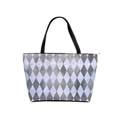 Diamond1 White Marble & Silver Paint Shoulder Handbags by trendistuff