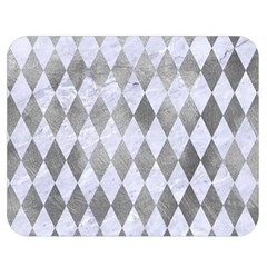Diamond1 White Marble & Silver Paint Double Sided Flano Blanket (medium)  by trendistuff
