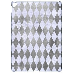Diamond1 White Marble & Silver Paint Apple Ipad Pro 12 9   Hardshell Case by trendistuff