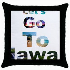 Hawaii Throw Pillow Case (black) by Howtobead