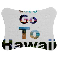 Hawaii Jigsaw Puzzle Photo Stand (bow) by Howtobead