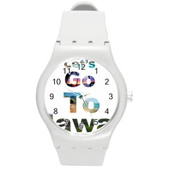 Hawaii Round Plastic Sport Watch (m) by Howtobead