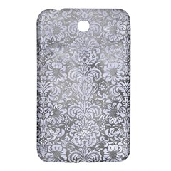 Damask2 White Marble & Silver Paint Samsung Galaxy Tab 3 (7 ) P3200 Hardshell Case  by trendistuff