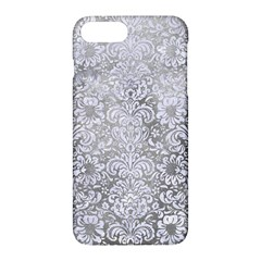 Damask2 White Marble & Silver Paint Apple Iphone 7 Plus Hardshell Case by trendistuff
