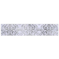 Damask1 White Marble & Silver Paint (r) Small Flano Scarf by trendistuff