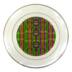 Sunset Love In The Rainbow Decorative Porcelain Plates by pepitasart