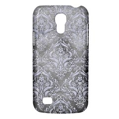 Damask1 White Marble & Silver Paint Galaxy S4 Mini by trendistuff