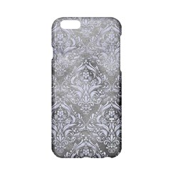 Damask1 White Marble & Silver Paint Apple Iphone 6/6s Hardshell Case by trendistuff
