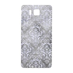 Damask1 White Marble & Silver Paint Samsung Galaxy Alpha Hardshell Back Case by trendistuff