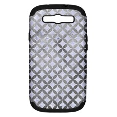 Circles3 White Marble & Silver Paint (r) Samsung Galaxy S Iii Hardshell Case (pc+silicone) by trendistuff