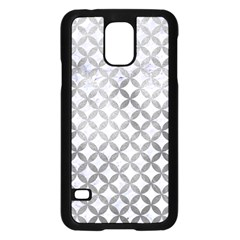 Circles3 White Marble & Silver Paint (r) Samsung Galaxy S5 Case (black) by trendistuff