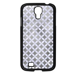 Circles3 White Marble & Silver Paint Samsung Galaxy S4 I9500/ I9505 Case (black)