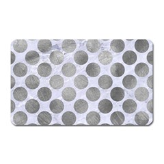 Circles2 White Marble & Silver Paint (r) Magnet (rectangular) by trendistuff
