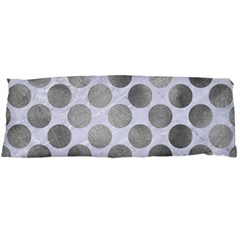 Circles2 White Marble & Silver Paint (r) Body Pillow Case Dakimakura (two Sides) by trendistuff