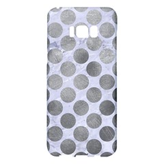 Circles2 White Marble & Silver Paint (r) Samsung Galaxy S8 Plus Hardshell Case