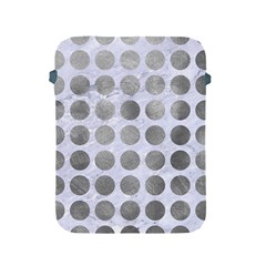Circles1 White Marble & Silver Paint (r) Apple Ipad 2/3/4 Protective Soft Cases by trendistuff