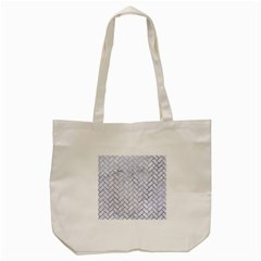Brick2 White Marble & Silver Paint (r) Tote Bag (cream) by trendistuff