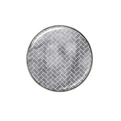 Brick2 White Marble & Silver Paint Hat Clip Ball Marker (4 Pack) by trendistuff