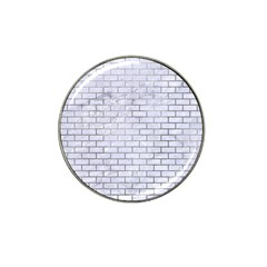 Brick1 White Marble & Silver Paint (r) Hat Clip Ball Marker (4 Pack) by trendistuff