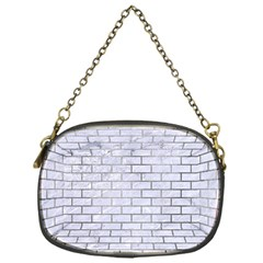 Brick1 White Marble & Silver Paint (r) Chain Purses (one Side)  by trendistuff