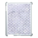 BRICK1 WHITE MARBLE & SILVER PAINT (R) Apple iPad 3/4 Case (White) Front