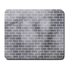 Brick1 White Marble & Silver Paint Large Mousepads by trendistuff