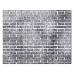 Brick1 White Marble & Silver Paint Rectangular Jigsaw Puzzl