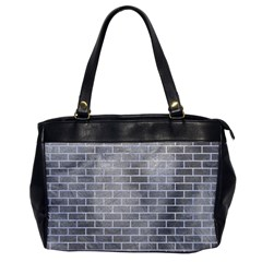 Brick1 White Marble & Silver Paint Office Handbags by trendistuff
