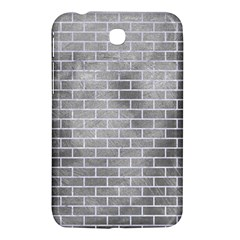 Brick1 White Marble & Silver Paint Samsung Galaxy Tab 3 (7 ) P3200 Hardshell Case  by trendistuff