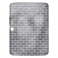 Brick1 White Marble & Silver Paint Samsung Galaxy Tab 3 (10 1 ) P5200 Hardshell Case  by trendistuff