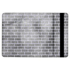 Brick1 White Marble & Silver Paint Ipad Air Flip by trendistuff