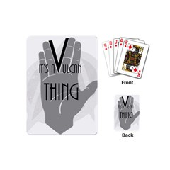 It s A Vulcan Thing Playing Cards (mini)  by Howtobead