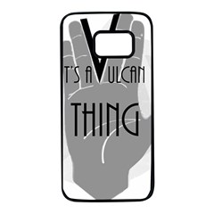 It s A Vulcan Thing Samsung Galaxy S7 Black Seamless Case by Howtobead