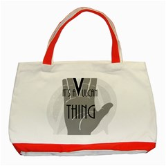 Vulcan Thing Classic Tote Bag (red) by Howtobead